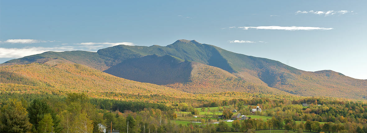 vermont mountain vista in fall